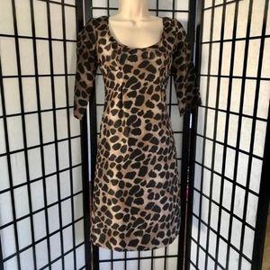 NEW Rebecca Taylor Silk Leopard Dress